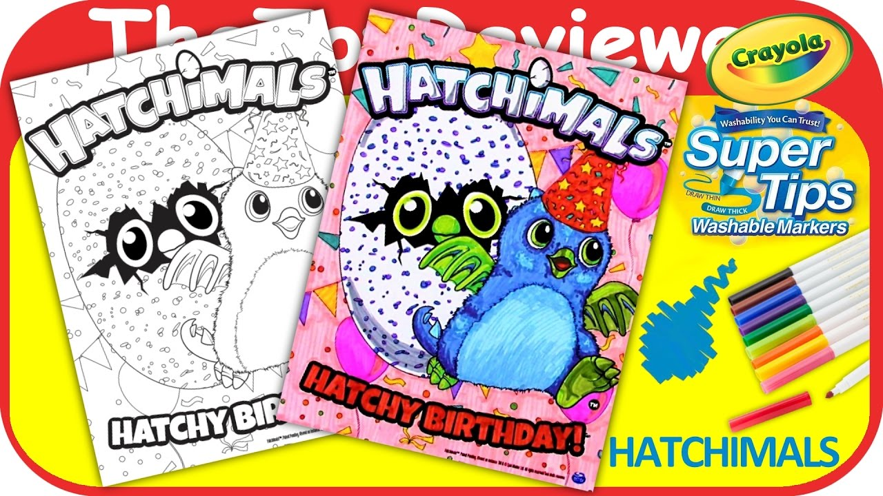 Hatchimals Hatchy Birthday Coloring
