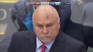 Trotz auditioning for toughest coach in NHL shakes off puck to head
