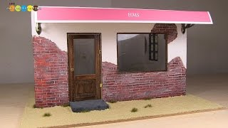 Miniature Dollhouse Room (Cafe&Bar) ドールハウスの部屋作り(カフェ&バー)