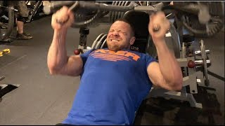 Squat Daily - 150x10 Dumbbell Bench Press! STRONGER DAILY!