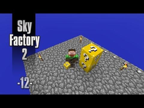 Dansk Minecraft - Sky Factory 2 #12 - Farligt ritual og Lucky Blocks (HD)