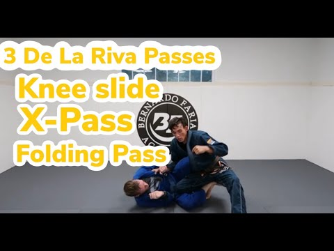 3 De La Riva Guard Passes - Knee Slide, X-Pass, Folding Pass