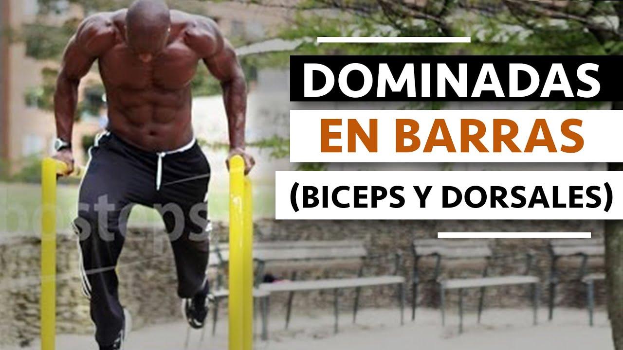 Dominadas en barras biceps y dorsales youtube - Barras de ejercicio para casa ...