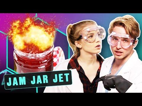 EXPLODING JET ENGINE IN A JAR?! (Smosh Lab)