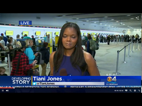 AIRPORT CHAOS IN FT. LAUDERDALE - PASSENGERS GONE WILD!