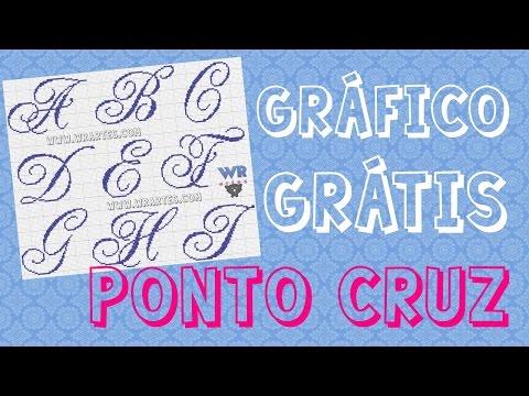 Alfabeto REQUINTADO maiúsculo - Gráfico Grátis de ponto cruz
