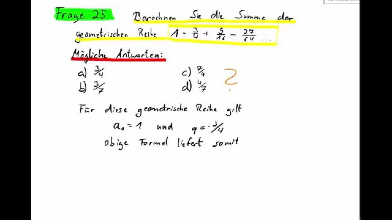 Funky Arithmetische Und Geometrische Reihe Arbeitsblatt Adornment ...