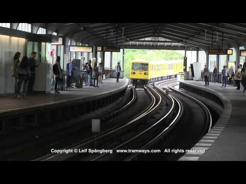 bvg u bahn metro trains at kurf rstenstrasse berlin germany by leifspangberg. Black Bedroom Furniture Sets. Home Design Ideas