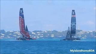 Emirates Team New Zealand vs Land Rover BAR   Damage to Emirates Team New Zealand?