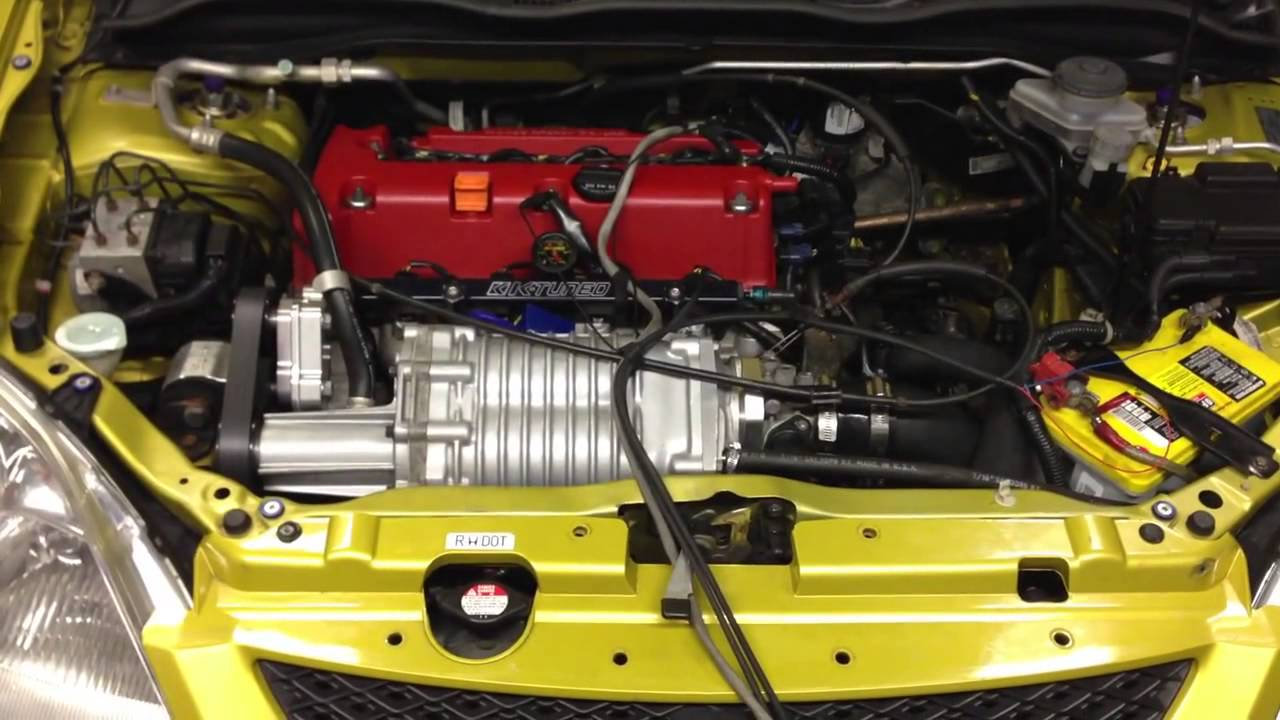 Honda Civic Ep3 Ct Supercharged K24 On A 8lb Pulley