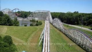 Great American Scream Machine Front Seat on-ride HD POV Six Flags Over Georgia