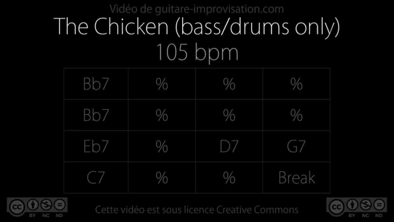 The Chicken (105 bpm) Bass/Drums - Backing Track