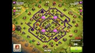 Clash of Clans - TH9 GIWIPE Strategy - 3360 dark elixir & 760k gold/elixir - OLD FOXES