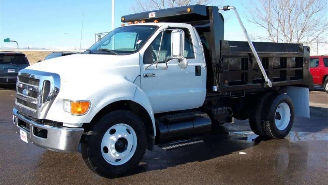 2003 ford f650 super duty dump truck youtube. Black Bedroom Furniture Sets. Home Design Ideas