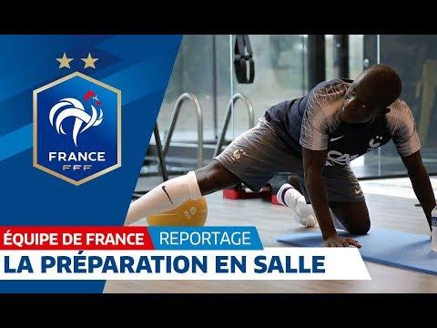 Equipe de France : Les Bleus en salle avant l'entrainement I FFF 2018