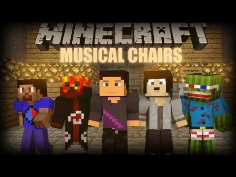 Minecraft: Musical Chairs Minigame! w/ Bashurverse, PrestonPlayz, & friends!