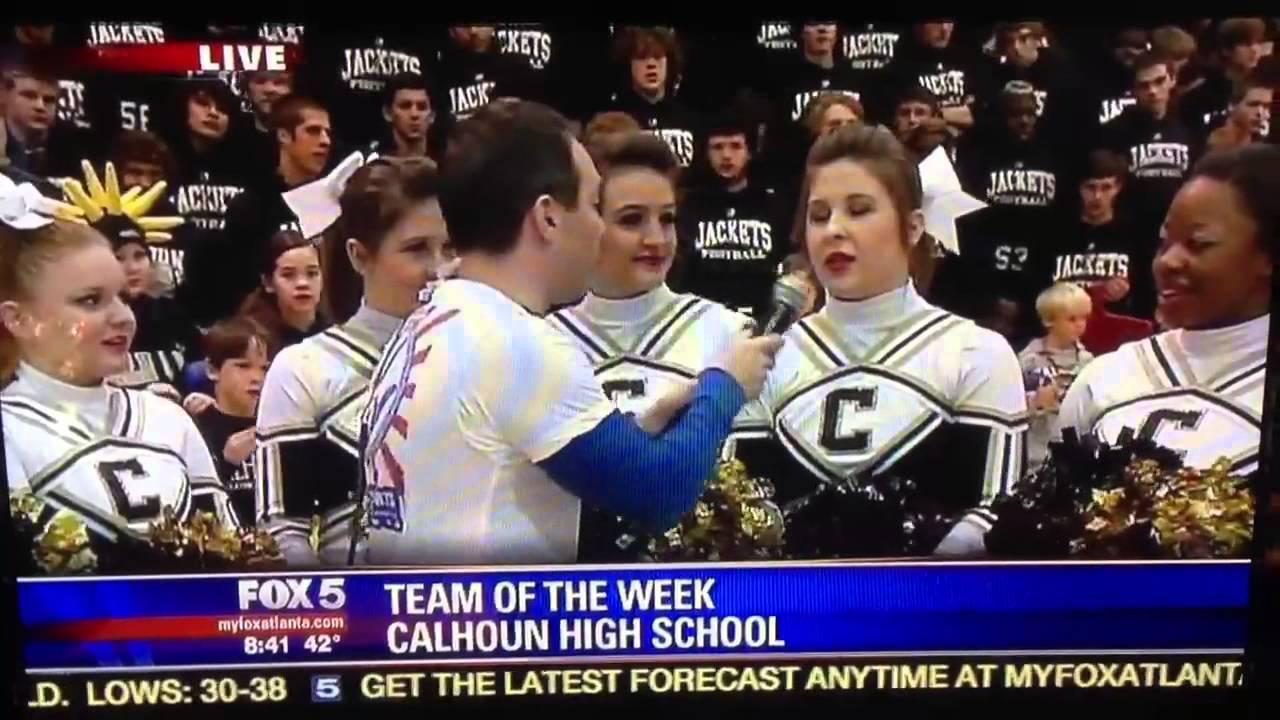 Katelyn and Kristen on Fox 5 Atlanta Calhoun High School Team of the Week!