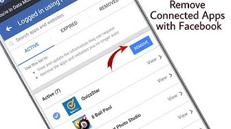How to Remove Apps Games Connected with Facebook Account