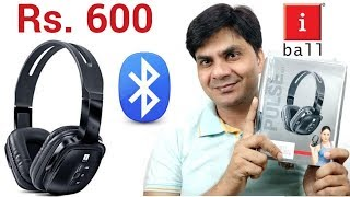 iBall Bluetooth Headphone -Model No - BT04 Unboxing amp Review