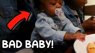 BABY RYAN GETS IN TROUBLE!