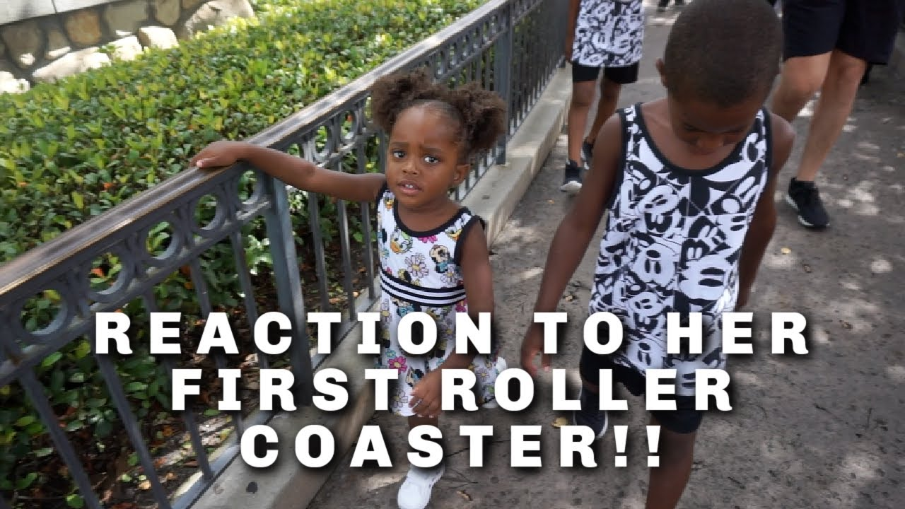 REACTION TO HER FIRST ROLLER COASTER!!