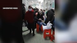 Video purports to show dire conditions in China's Wuhan hospital