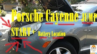 ▶️Porsche Cayenne Jump Start and Battery Location, 2004 2005 2006 2008 Easy Step-by-Step Directions