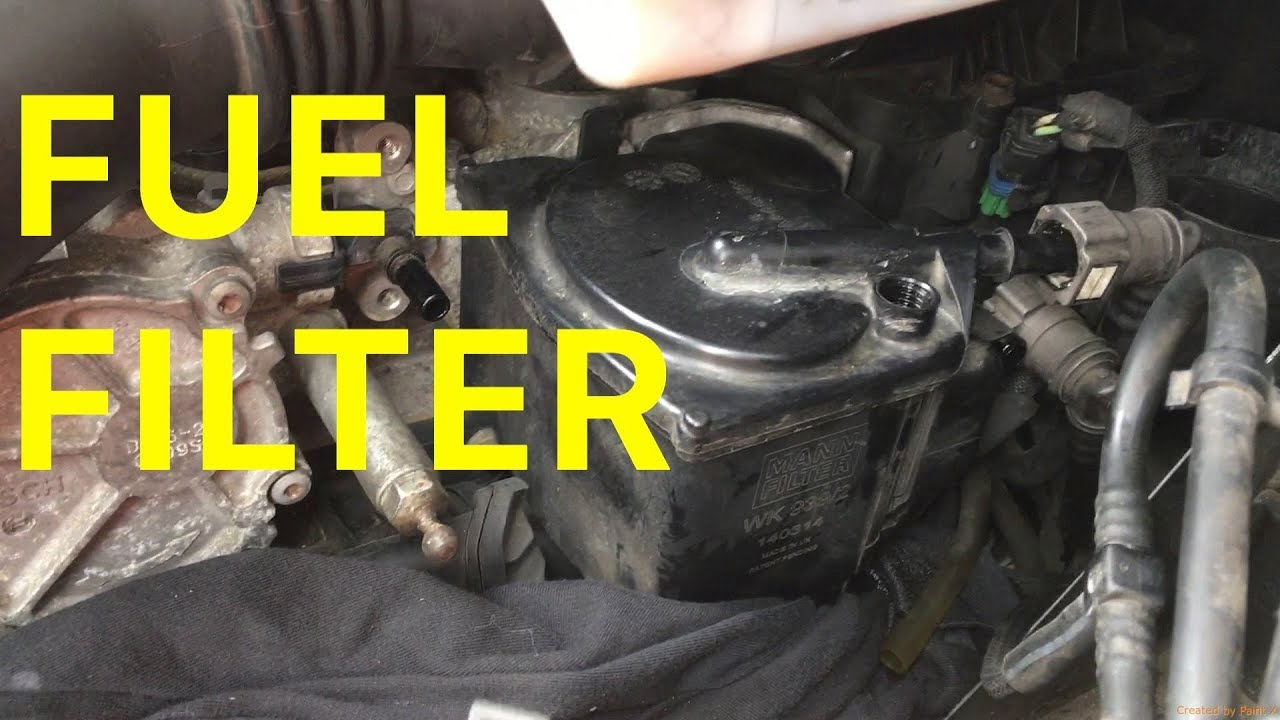 how to change the diesel fuel filter on your citro n c4 1 6 hdi [ 1280 x 720 Pixel ]