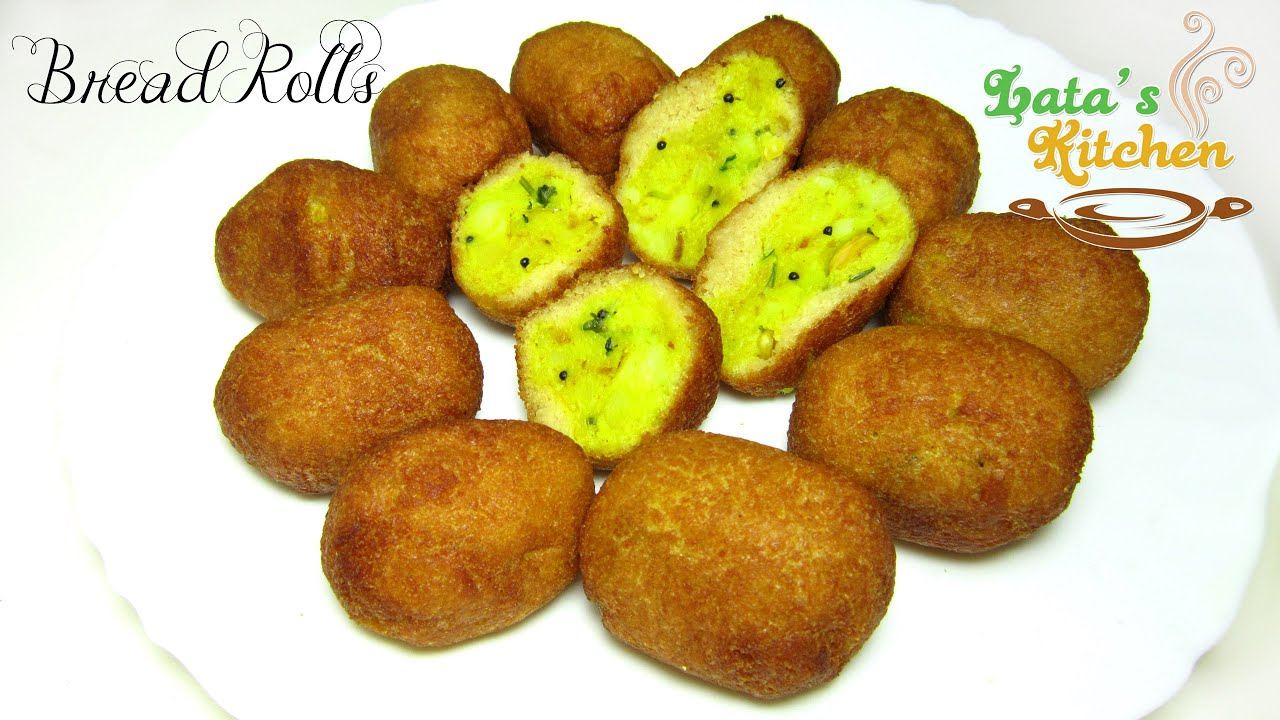 Bread potato rolls recipe indian vegetarian snack recipe video in bread potato rolls recipe indian vegetarian snack recipe video in hindi latas kitchen youtube forumfinder Images
