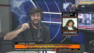 Lucia Barbuto (Futura presidenta de Banfield) en #AzzaroAlHorno