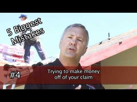 5 biggest mistakes in Handling Roof Insurance claims - Masterpiece Roofing & Painting