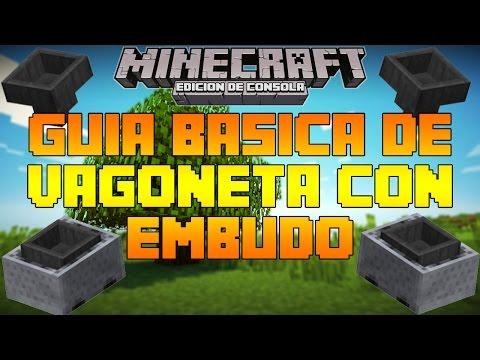 Minecraft Consolas: Guía Basica Vagoneta Con Embudo + Ejemplo TU19