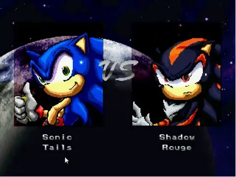 MUGEN SONIC AND TAILS VS SHADOW AND ROUGE [FIGHT MH]