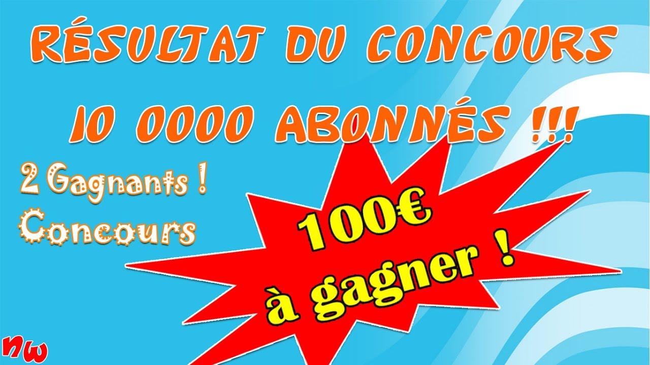 RÉSULTAT DU CONCOURS 10 000 ABONNÉS !!