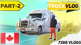 Trucking Vlog | Driving through TORONTO downtown | 7266 Vlogs