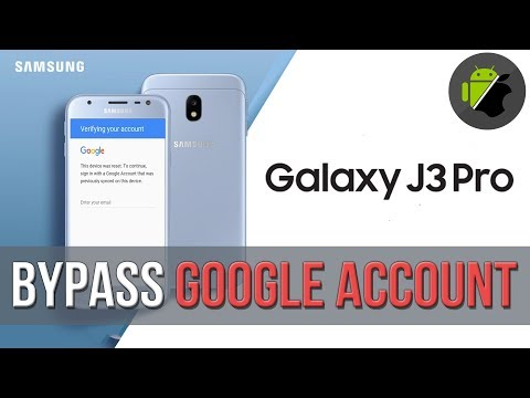 Bypass FRP Google account Samsung J3 Pro 2017 (J330G, J330F, J3300
