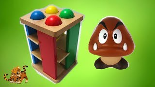Teach Colors with Pounding Ball Table Learning Toy for Children ft Super Mario Goomba |Toy Fun