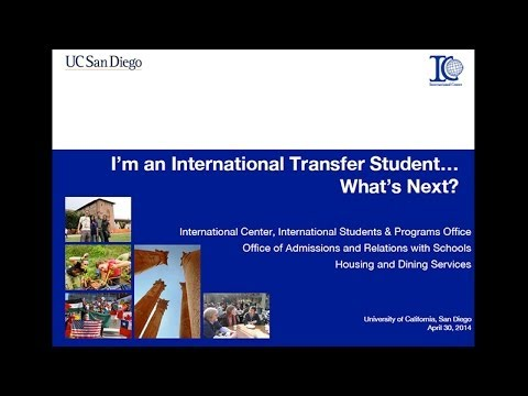 I'm an International Transfer Student. What's Next? (Fall 2014 4/30/14)