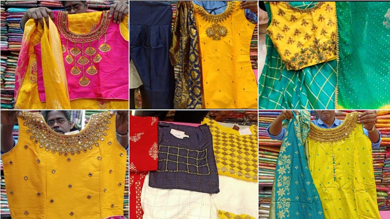 Rs.280 Onwards Kurtis Tops Nighties | Chudi MaXi Crop Top Anarkali Collection wholesale| Tnagar Shop