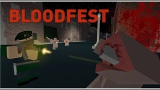 mr hul vs some weird zombies!a short roblox blood fest gameplay