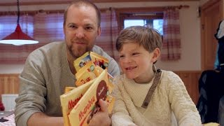 Johan och Ludvig testar Marabou choklad