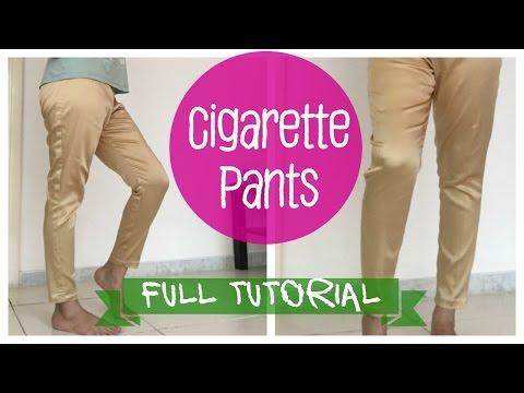 Cigarette pants- Pattern, Cutting and Stitching