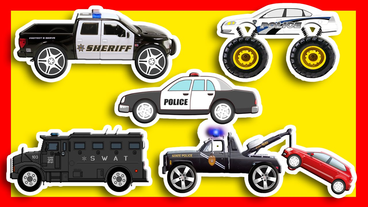 Police Vehicles Police Tow Truck Police Monster Truck Swat