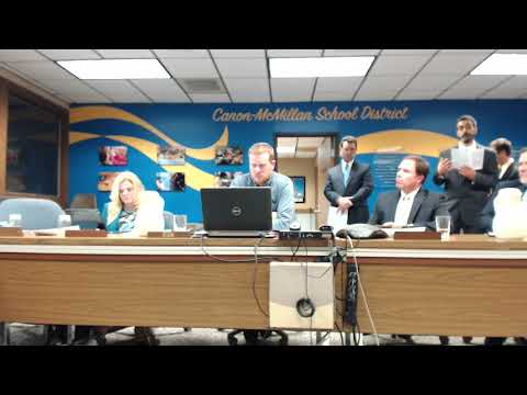 Canonsburg Middle School Presentation to the School Board January 11, 2018