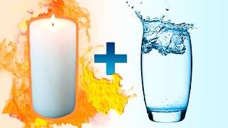 Горячий парафин + Вода = Огненная реакция!