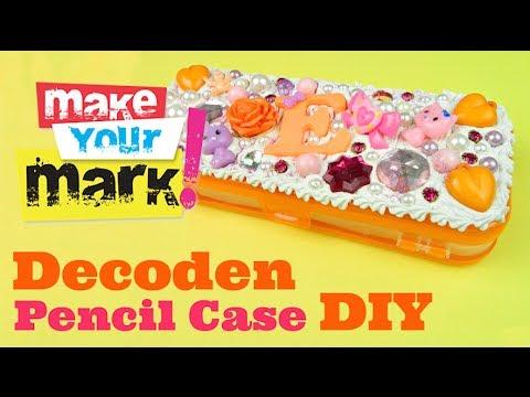 How to Make a Decoden Pencil Case DIY Tutorial