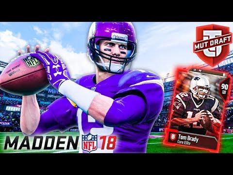 FIRST MUT DRAFT w/ GOAT TOM BRADY! - Madden 18 Ultimate Team Draft Gameplay