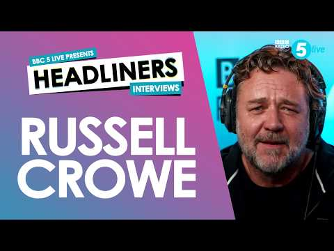 Russell Crowe on music, sport and his film career