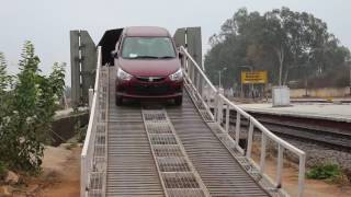 Unloading of Suzuki Cars from Indian Railway cargo