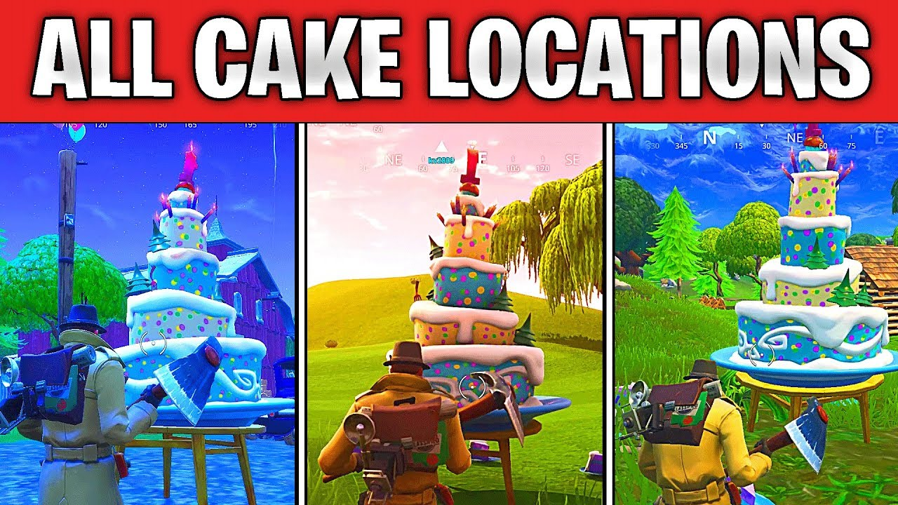 All Birthday Cake Locations Fortnite Fortnite Season 9 Page